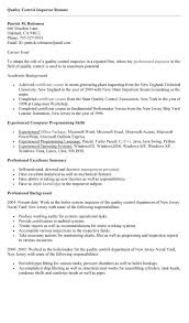 quality control cover letter sample resume sample
