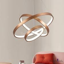 antique brass multi ring pendant light post modern 20 50 100w 1 light 2 light 3 light brushed aluminum drum led chandelier for staircase entryway office