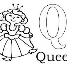 Small Picture Learn Alphabet Letter Q for Queen Letter Q Coloring Page Bulk Color