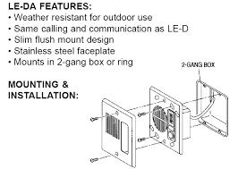 aiphone le series le d le da le dl door stations, surface and flush Intercom Wiring-Diagram surface and flush mount
