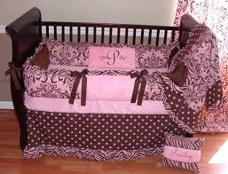 pink paisley crib bedding full size of nursery and brown owl also light set