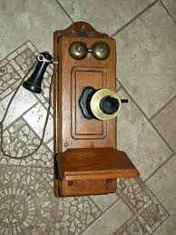 antique wood wall phone parts image of lion and sgimage co