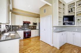 Bright Kitchen Bright Kitchen Room With Hardwood Floor White Cabinets And Shiny