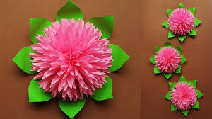 How To Make Flower Paper How To Make Beautiful Paper Flower For Home Decor Paper Flowers Wall Decorations