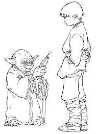 Small Picture Yoda coloring page