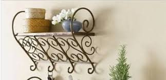 Buy Coat Rack Online 100 100 Decor Hook Pastoral Style Shelving Wall Mount Keys 73