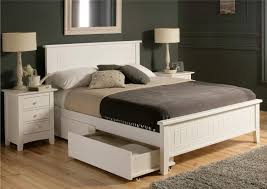 beadboard bedroom furniture. Mid-century White Beadboard Queen Platform Bed With Sleigh Drawers, Mesmerizing Size Beds Bedroom Furniture B