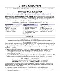 Care Giver Resume Cool Caregiver Resume Example Shocking Templates Examples Sample