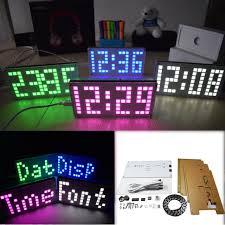 diy ds3231 touch key control brightness adjule big size dot matrix alarm clock kit