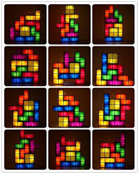 com ecoss tetris stackable led desk lamp with constructible retro game style led lights item 249163 baby