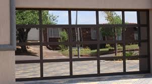 action glass aluminum garage doors