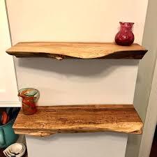 wood slab shelf floating shelves made of live edge ash maple wood slab hanging shelf wood slab shelf natural edge