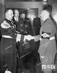 Gdansk Gauleiter Albert Forster (r) welcomes the commander of the  'Schleswig-Holstein' ship after..., Stock Photo, Picture And Rights Managed  Image. Pic. PAH-2232723   agefotostock