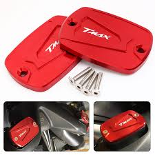<b>Tmax 530 500</b> Aluminum CNC Brake Fluid Reservoir Cap Cover <b>For</b> ...