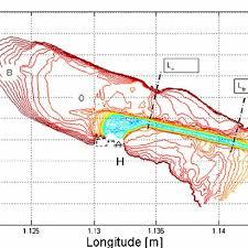 Vineyard Lake Depth Chart Depth Chart Of The Mok Bay Containing Depth Contours