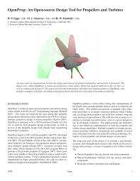 Marine Propeller Design Theory Pdf Openprop An Open Source Design Tool For Propellers And