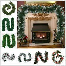 <b>Christmas Garland</b> Frosted Green Fireplace <b>Window</b> Door Xmas ...