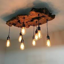 wood chandelier lighting custom made medium live edge olive wood chandelier rustic and industrial light fixture