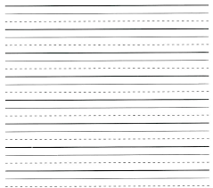 Writing Lines Template Kids Printing Paper Free Lined Letter
