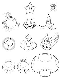 Super Mario Bros 15 Video Games Printable Coloring Pages