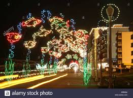 Christmas Light Show In Virginia Beach Virginia Beach Oceanfront Boardwalk Stock Photos Virginia