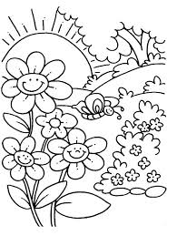 Free Printable Spring Flower Coloring Pages Spring Coloring Sheets