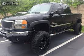 2006 gmc sierra lifted. Delighful Lifted 1 2006 Sierra 2500 Hd Gmc Suspension Lift 6 Moto Metal Mo962 Black  Super Aggressive 3 On Lifted