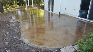 stained stamped concrete patio. Stamped Concrete Gallery. Acid Stain Patio Stained R
