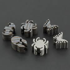 Flame Spider TC4 <b>Titanium Alloy</b> Knife <b>Beads</b> EDC Tool Helmet ...