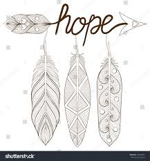Bohemian Arrow Hand Drawn Amulet Letters Stock Vector Royalty Free
