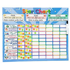 star charts for kids amazon com roscoe learning responsibility star chart customize