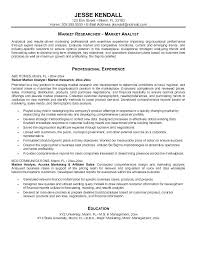 Data Analysis Sample Resume Sales Analyst Market Research Templates