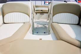 interior of luxurious boat all vinyl fabrics