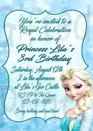 Frozen Theme Invitation Jellybook