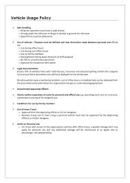 Company Vehicle Policy Template 55 Lovely Company Vehicle Use