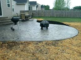 concrete patio costs per square foot concrete cost fascinating how much is stamped concrete vs cost concrete patio costs