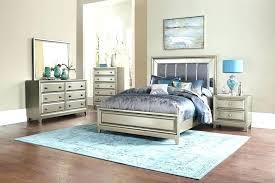Pretentious Inspiration Mirrored Headboard Bedroom Set Queen ...