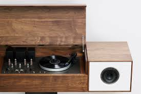 Cabinet Record Player Review Symbol Audio Modern Record Console Wired