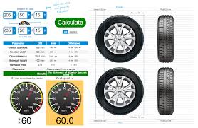 Computer Wheel Size Chart Tire Size Calculator Compare Tires Online