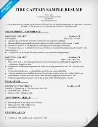 Sample Fire Resume | Resume CV Cover Letter
