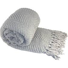 Light Gray Throw Blanket