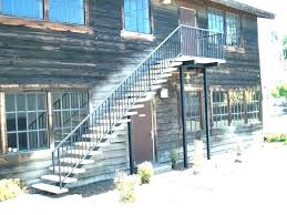 exterior metal steps how to build outdoor steps r metal stairs house design residential porch brick