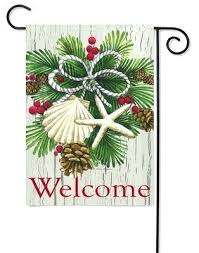 burlap holiday garden flags happy holidays enjoy decorative outdoor and indoor polyester custom personalized banner
