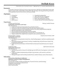 Job Coachtion Template Resume Assistant Swim Volleyball Pictures