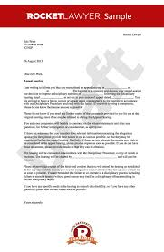 Appeal Letter Sample Enchanting Disciplinary Appeal Letter Notice Of Appeal Hearing Template