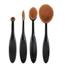 dels about 10 pcs professional foundation brush cosmetics brushes tool set super soft