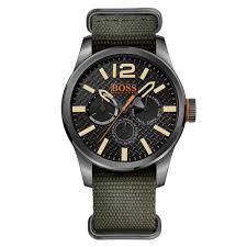 buy boss orange watches mens black dial paris grosgrain strap watch boss orange watches mens black dial paris grosgrain strap watch