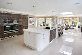 modern curved kitchen island. Kitchen Island With Rounded Corners. In An Ultra-modern Home A Wide Open-plan Design, The Modern Curved N