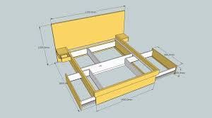 Compact Living Queen Size Bed with Storage Drawers
