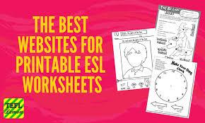 The Best Websites for Printable ESL Worksheets — TEFL Lemon: Free ...